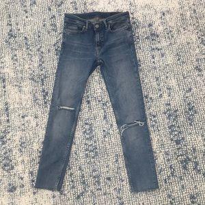 All Saints Mast Vintage Crop Jeans Sz 27 (fits 25)